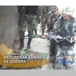 Policía recupera armas durante operativo antidrogas en el Monzón (video)