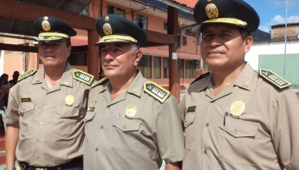 Tres nuevos coroneles tiene el Frente Policial Huallaga