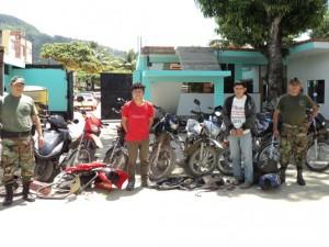 Capturan a banda de ladrones de motos en Satipo