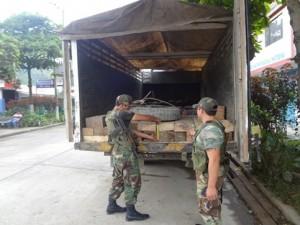 Policía incauta madera ilegal en Kiteni y Satipo
