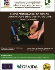 Desarrollan curso de fertilización de suelos para el cultivo de café en Satipo