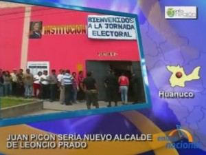 Juan Picón sería el nuevo alcalde de Leoncio Prado (vídeo)