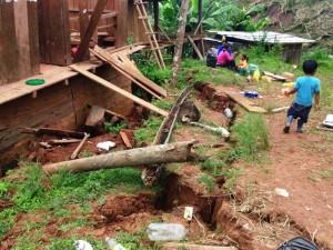 Satipo: más de 50 familias perderían sus viviendas por hundimiento de tierra