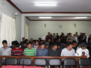 Banda de presuntos narcos fueron internados en penal de Ayacucho