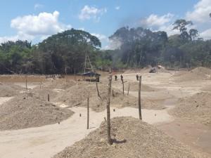 Madre de Dios: Encuentran yacimiento de minería ilegal cerca a Reserva Nacional Tambopata