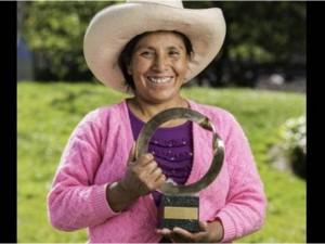 Agricultora peruana gana premio Goldman por defender el medio ambiente