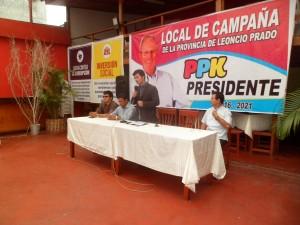 PPK: Lanzan campaña de segunda vuelta en Tingo María