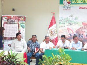 Ucayali: Realizaron mesa de diálogo por el desarrollo de la región