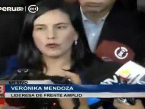 """Verónika Mendoza: """"La oposición obstruccionista no será de parte del Frente Amplio"""""""