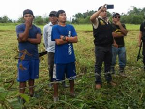 Aucayacu: PNP detiene a siete sujetos por usurpación de terrenos