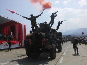 Realizaron parada militar por las Fiestas Patrias en el Vraem