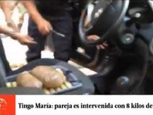 Tingo María: Capturan a pareja que transportaba más de 8 kilos de droga