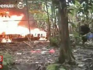 Huánuco: Destruyen dos laboratorios clandestinos de droga