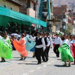 Huánuco lució riqueza folklórica en colorido pasacalle por 477° aniversario