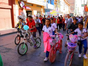 """Huánuco: Realizan campaña ambiental """"Menos automóviles, más bicicletas"""""""