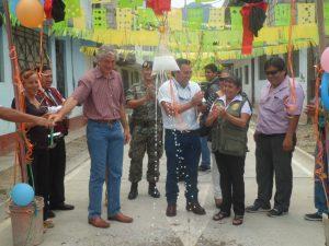 Leoncio Prado: Inauguran obra de pavimentación en asentamiento humano