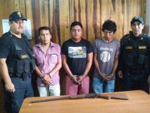 Huánuco: Policía detiene a tres sujetos en el Valle de Monzón