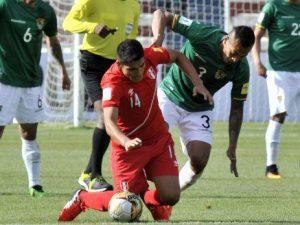 Perú perdió 2-0 ante la selección boliviana