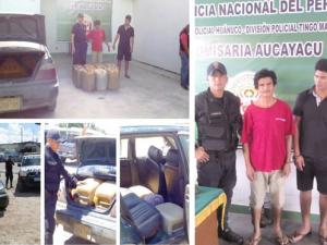 Aucayacu: PNP incautó combustible que era trasladado ilegalmente