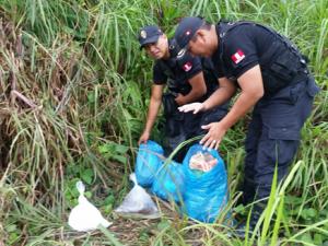 Valle del Monzón: PNP decomisó 18 kilos de insumos químicos