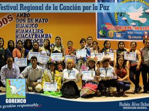 """Huánuco: Se realiza """"I Festival Regional de la Canción por la Paz"""""""