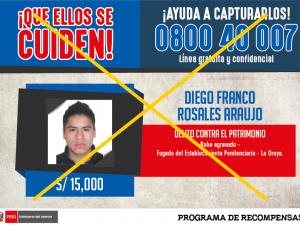 Huánuco: Recapturan a delincuente que fugó del penal de La Oroya