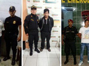 Tingo María: Policía intervino a cuatro requisitoriados