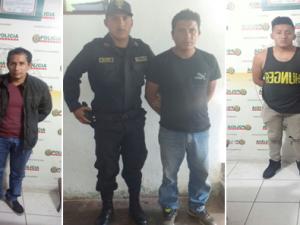 Huánuco: Policía capturó a cuatro requisitoriados
