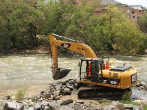 Huánuco: Se supervisaron los trabajos de descolmatación del Río Huallaga