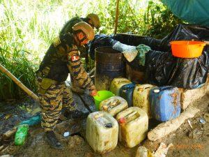 La Mar: PNP destruyó 4 pozas de maceración de hoja de coca