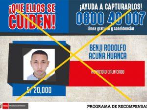 """Chiclayo: Capturan a cabecilla de los """"Gatilleros de Tiwinza"""""""