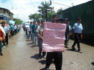 Tingo María: Cafetaleros en huelga se movilizaron por las calles