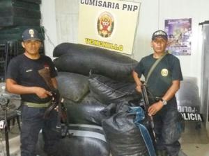 Tingo María: Policía decomisó 40 kilos de hoja de coca