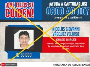 Programa de Recompensas: Capturado fue condenado a 28 años de prisión