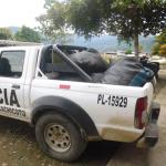 Huamalíes: PNP decomisó 300 kilos de hoja de coca