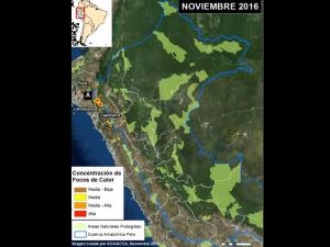 Incendios Forestales afectan 7 Áreas Protegidas en el norte del Perú