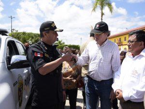 San Martín: Mininter entregó 18 patrulleros y 48 camionetas