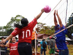 Comunidades excocaleras participaron en campeonato deportivo