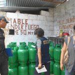Intervienen locales de venta de gas en Puerto Maldonado