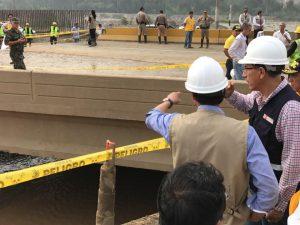 MTC instalará puente en Ramiro Prialé tras desborde del Huaycoloro
