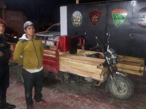 Intervienen 240 pies tablares de madera ilegal en Leoncio Prado