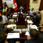 PPK recibió a cinco gobernadores regionales en prevención de desastres