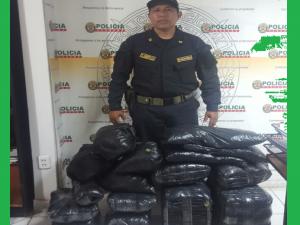 Policía decomisó 50 kilos de hoja de coca en Leoncio Prado