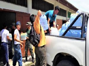 San Martín: Recoletan 50 toneladas de ayuda para damnificados