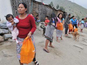 Mininter lleva ayuda a comunidad shipiba en Cashahuacra