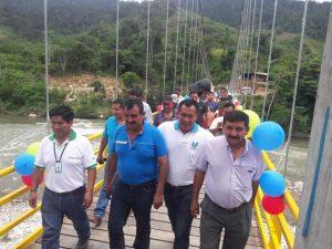 Tocache: Inauguran puente colgante en Shunte