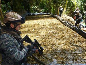 Vraem: Policía destruyó dos pozas de maceración de hoja de coca