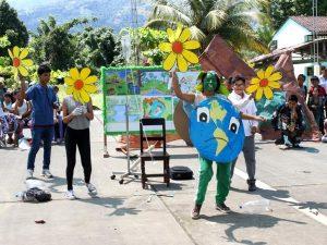 Vraem: Teatro escolar divulgó mensaje por el Día de la Tierra
