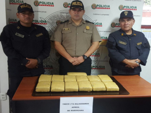 Leoncio Prado: Policía decomisa bolsa con marihuana