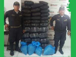 Leoncio Prado: Intervienen más de 290 kilos de hoja de coca ilegal